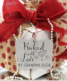 'Baked with Love' Personalized Clear Block Stamp