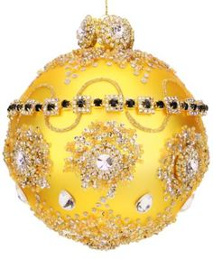 Mark Roberts Jeweled Ball Gold Florentine Jewels