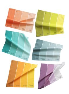 Paint chip napkins make a perfect gift for color-lovers.