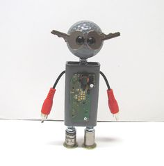 Found Objects Robot Sculpture / Assemblage Robot Figurine - One of a kind unique creation - Unique Gift by VINTAGEandMOREshop on Etsy https://www.etsy.com/listing/476679289/found-objects-robot-sculpture-assemblage