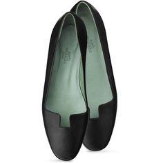 Hermès Joy Ballerina (837,785 KRW) ❤ liked on Polyvore featuring shoes, flats, black ballet shoes, ballet pumps, skimmer flats, ballerina shoes and ballerina flat shoes