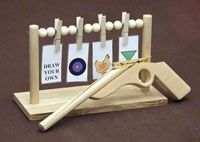 Toy Rubber Band Gun and Target