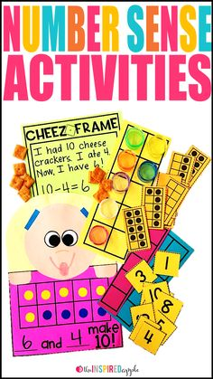 Check out these fun and easy activities for teaching number sense in your preschool, kindergarten, and first grade classrooms! This post includes everything from math crafts to hands-on activities to use during small group, intervention, or RTI, to FREE PRINTABLES and more! Your kids will love how fun and engaging they are and you will love having something new to add to your math curriculum.