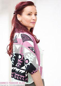 Fashion DIY Tutorial: Schnell und einfach ein Bolero-Jäckchen mit Tribalmuster selber machen
