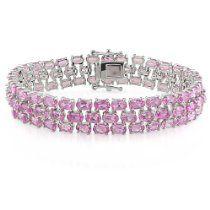 "Sterling Silver Gemstone Bracelet, 7"""