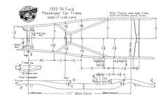 1928 31 model a ford frame dimensions 1929fordhotrod. Black Bedroom Furniture Sets. Home Design Ideas