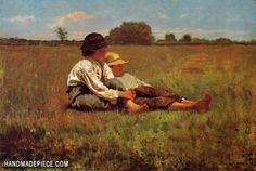 off Hand made oil painting reproduction of Boys in a Pasture, one of the most famous paintings by Winslow Homer. The American artist Winslow Homer concluded the oil painting entitled Boys in a Pasture i. Winslow Homer Paintings, Homer Winslow, Art Paintings, Painting Art, Original Paintings, Kunsthistorisches Museum, Boston Museums, Oil Painting Reproductions, Canvas Prints