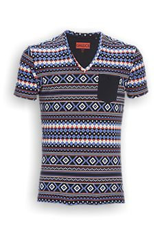 T-shirt, Gallice Men Aztec All Over - The Sting