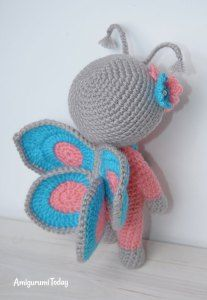 Doll in butterfly costume - free amigurumi pattern