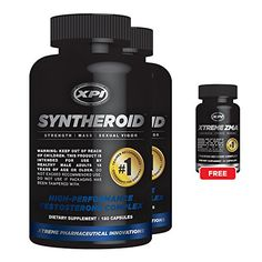 Syntheroid 2 Pack and 1 Free Xtreme ZMA 21  Weight Loss for Men  Build Lean Muscle Mass *** Be sure to check out this awesome product from Amazon.com