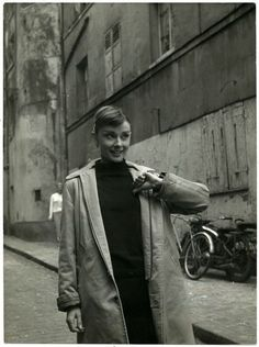 Audrey Hepburn while filming the Funny Face in Paris, France, 1957.