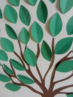 Items similar to Tree Guest Book Alternative, Going Away Card, Sign the Blank Leaves (Custom Colors Available) on Etsy Tree Crafts, Craft Stick Crafts, Diy And Crafts, Crafts For Kids, Arts And Crafts, Paper Crafts, 3d Paper Art, Paper Tree, Paper Artwork