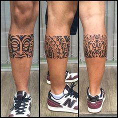 """400 Likes, 18 Comments - Gustavo Teixeira Franzoni (@guteixeiratattoo) on Instagram: """"Faixa feito em uma sessão. #maoritattoo #maori #polynesian #tattoomaori #polynesiantattoos…"""" #polynesiantattoosleg"""