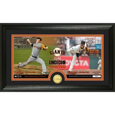 Tim Lincecum inDual No Hitterin Minted Coin Panoramic Photo Mint