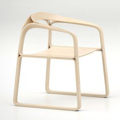 PLOOOP CHAIR BY TIMOTHY SCHREIBER. Minimalist bent plywood.
