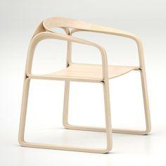 PLOOOP CHAIR BY TIMOTHY SCHREIBER. Minimalist bent plywood.