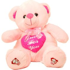 Pink Tall Teddy  Rs 620/- http://www.tajonline.com/valentines-day-gifts/product/slw688/teddy-bear-sitting-with-in-built-heart/?aff=pint2015/