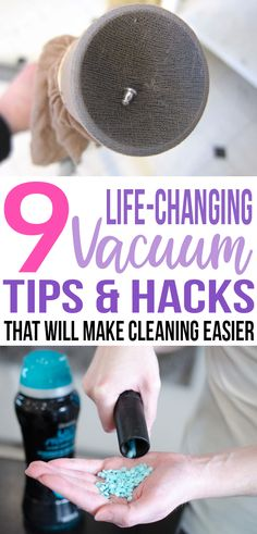 Look at these awesome tips on how to make vacuuming easier! Definitely trying them out. #vacuum #cleaninghacks #cleaningtips
