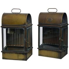 Pair of Large Late 19th Century Wall Lanterns | From a unique collection of antique and modern lanterns at https://www.1stdibs.com/furniture/lighting/lanterns/