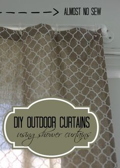 Almost No Sew DIY Outdoor Curtains | Love of Home