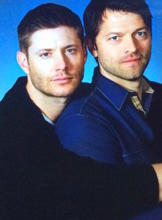 Jensen and Misha source : http://shmemy711.tumblr.com/