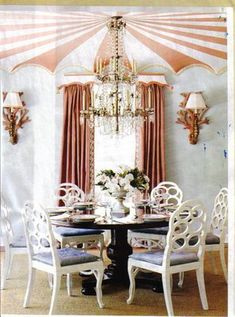 Palm Beach dining room done by Richard Keith Langham