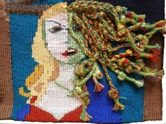 Medusa This tapestry has been now been sold Medusa, Tapestry, Jellyfish, Hanging Tapestry, Tapestries, Needlepoint, Wallpapers, Rug Hooking