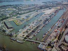 Rotterdam: Luchtfoto jaren 70