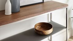 2 Shelf console table