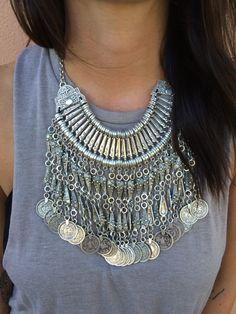 Izmir Necklace | www.turklynpazaar.com #turkish #silver #jewelry #necklace #boho #chic #style