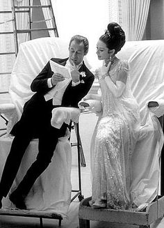 "My Fair Lady, Audrey Hepburn, Rex Harrison. Another Pinner said ""There is too much awesome in this picture."" And I agree!"