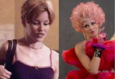 Now: Elizabeth Banks as Effie Trinket in The Hunger Games: Catching Fire. Already a friend of Gary Ross and a huge fan of The Hunger Games books, Banks said she actively campaigned for the role of outlandish Capitol District 12 representative Effie Trinket.