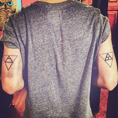 placement..Triangle tattoos.