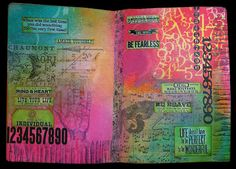 Annettes Creative Journey: stamping techniques http://annettescreativejourney.blogspot.com/2013/05/my-first-art-journal-pages.html