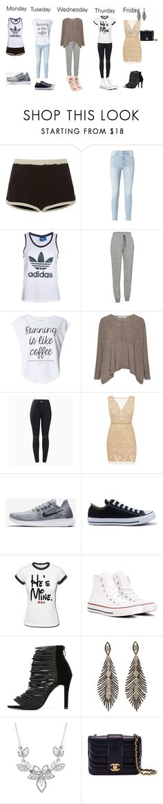 """Untitled #81"" by bzakich-1 ❤ liked on Polyvore featuring RED Valentino, Frame, adidas, Icebreaker, Dorothy Perkins, Nicole Miller, NIKE, Converse, Jon Richard and Chanel"