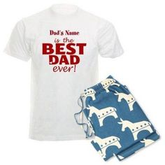 CafePress Personalized Best Dad Ever Men's Light Pajamas, Size: Medium