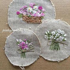 . . これも私のお気に入り。。。 . #lovely #embroiderythread #embroidery #flowerembroidery… Embroidery Stitches Tutorial, Hand Embroidery Patterns, Embroidery Techniques, Silk Ribbon Embroidery, Embroidery Hoop Art, Cross Stitch Embroidery, Embroidery Scissors, Embroidery Needles, Embroidery Books