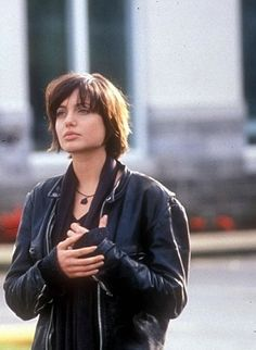 """Angelina Jolie as """"Legs"""" Sadovsky in Foxfire, 1996-so typical. I liked her from 96-2001."""