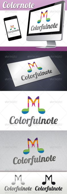 Music Colorful Notes Logo — Vector EPS #music composer #clever music logo • Available here → https://graphicriver.net/item/music-colorful-notes-logo/3357619?ref=pxcr