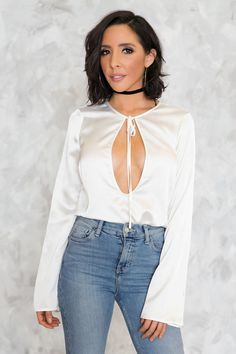 Private Only Keyhole Satin Top – Haute & Rebellious