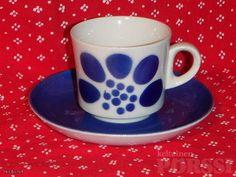 ARABIAN RETRO BR-MALLIN KAHVIKUPPI Malta, Finland, Retro Vintage, Blue And White, Pottery, Clay, Mugs, Tableware, Design