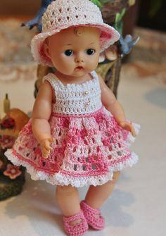 PDF PATTERN Crochet 8 inch Vogue Vintage Ginnette 50's Baby Doll Sundress