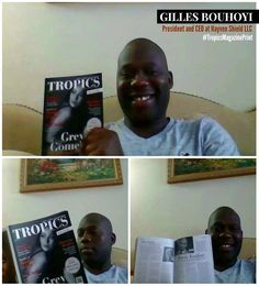 #Selfie • Gilles Bouhoyi (Los Angeles, USA) is a proud reader of #TropicsMagazine. Print Magazine, Tropical, Selfie, Baseball Cards, Usa, Selfies, U.s. States