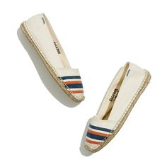 I'd get these in a hot second if i didnt know they'd filthy dirty in one day.  // Soludos® Low-Cut Espadrilles in French Stripe