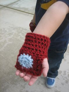 totally cute hand gloves that look like iron man's :)