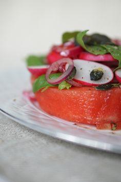 A juicy water melon salad