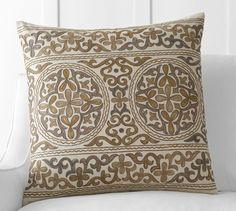 Roma Embroidered Pillow Cover | Pottery Barn  $70