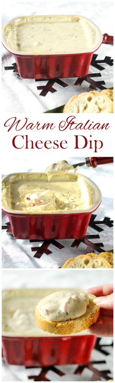 Warm Italian Cheese Dip | www.fromcalculustocupcakes.com | Appetizers