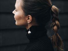 Sterling silver light earrings Pearl Earrings, Drop Earrings, Twiggy, Pearls, Sterling Silver, Jewelry, Fashion, Moda, Pearl Studs