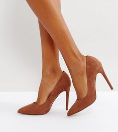 Shop ASOS DESIGN Wide Fit Paris pointed high heeled court shoes in mocha. With a variety of delivery, payment and return options available, shopping with ASOS is easy and secure. Shop with ASOS today. High Heel Boots, High Heel Pumps, Pumps Heels, Brown Heels, Brown Shoe, Asos, Moka, Womens Boots On Sale, Boots Sale